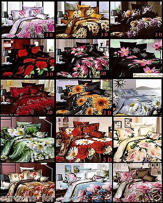 Nice Fabric King  Double Single! 4 Pcs ! 3D Bedding Sets 45 Designs To Choose