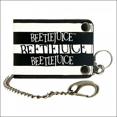 BeetleJuice Snap Chain Bi-Fold Bifold Mens Boys Wallet OFFICIAL LICENSED New