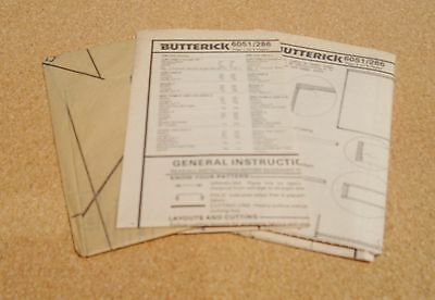 New Vintage Butterick  Pattern 6051 Curtains Shades Side Panels & Valances