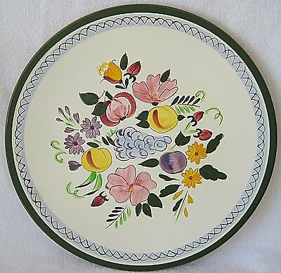 STANGL FRUIT AND FLOWERS 14 INCH CHOP PLATE