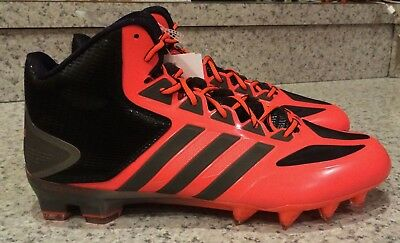 huge discount 43d85 76a6e ADIDAS Crazyquick Mid Molded Melon Black Grey Football Cleats TD NEW Mens  11.5