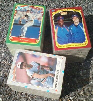 ALL 3 SETS: 1986, 1987, 1988  132 Card Fleer Star Sticker Sets - One LOW Price