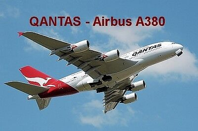 SOUVENIR FRIDGE MAGNET of an AIRBUS A380 - QANTAS