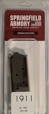 Springfield Armory 1911 Magazine 7 Round Stainless 7rd Mag 45acp SS PI4520 - OEM