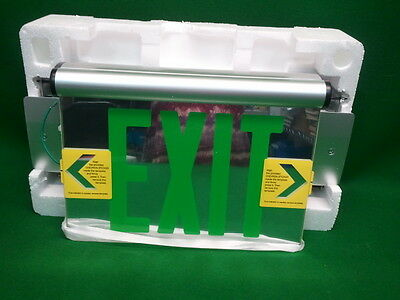 Exit Sign Universal Mcphilben 44R Line Led Edge Lit  New In Box  44Rlu2G Green