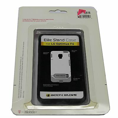 OEM T-Mobile Body Glove LG Optimus F6  Elite Stand Case BLACK