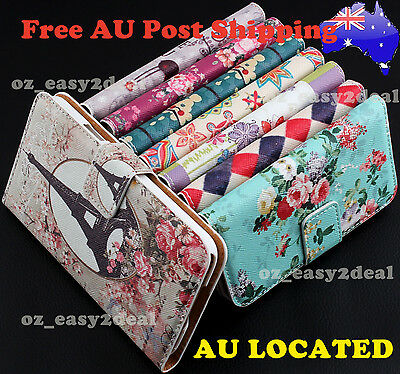 Luxury Floral Leather Purse Case Cover Flip Wallet For iPhone 4 5/5s 5c 6 6 plus