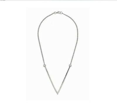 Silver - Personality Fashion Triangle Style Metal Lady Chain Necklace Quality
