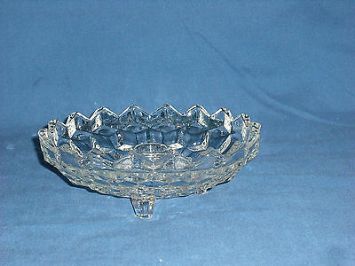 American Whitehall Flared Three Toed Footed Candle Holder,Vintage Indiana Glass