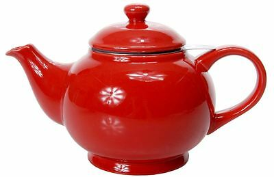 Benzer - Chadwick Chai Tea Pot with Strainer Gloss Red 1500ml