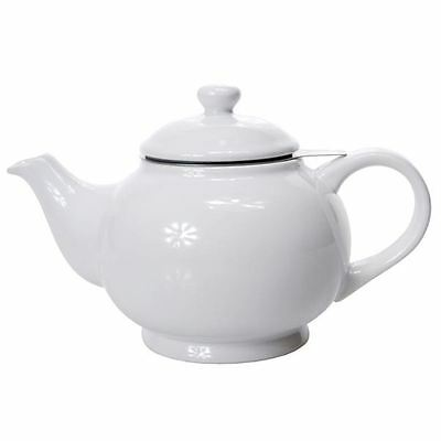 Benzer - Chadwick Chai Tea Pot with Strainer Gloss White 1500ml