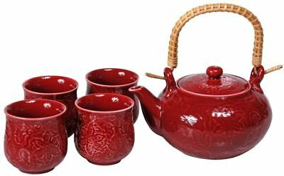 Benzer - Chinoise  5 piece Plum Tea Set - GIFT BOXED