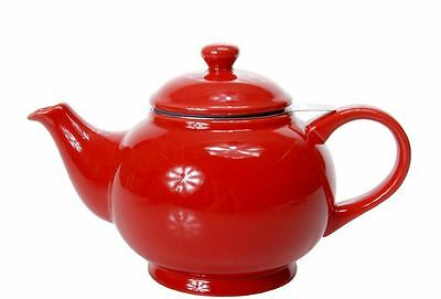 Benzer - Chadwick Chai Tea Pot with Silicone Ring and Infuser Gloss Red 800ml