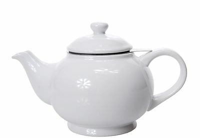 Benzer - Chadwick Chai Tea Pot with Silicone Ring and Infuser Gloss White 800ml