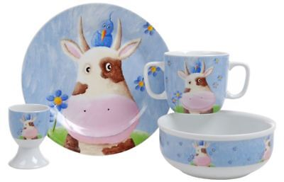 Benzer Junior - Clarrie the Cow  4pc Childrens China Set