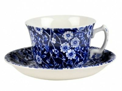 Blue Calico by Burleigh - Tea Saucer 15cm   (Hand Made in England)