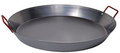 Las Palmas - Carbon Steel XXL Paella Pan with Red Handle 50cm