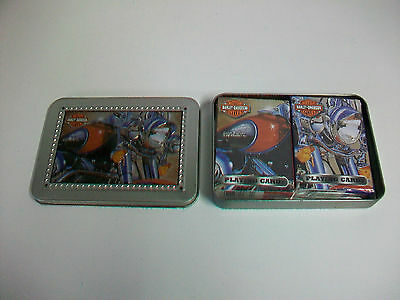 2003 Harley Davidson Collector Tin w/ 2 Decks Sealed Playing Cards