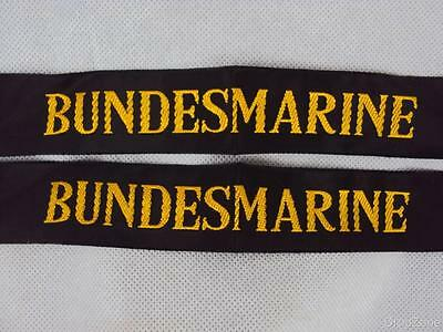 2 x German Navy Bundesmarine Sailor's Cap Hat Tally