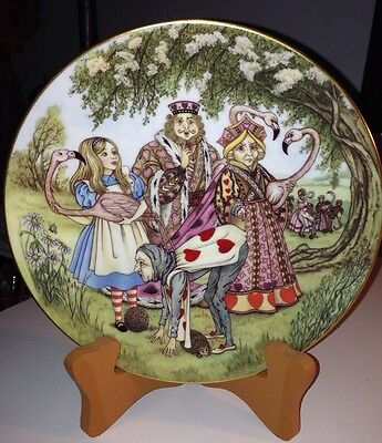 Sandy Nightingale Alice In Wonderland ALICE, THE CROQUET GAME Plate 1981 Limoges