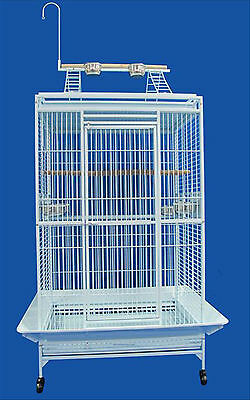 Bird Parrot cage Macaw Cockatoo African Grey Q27-3223- White