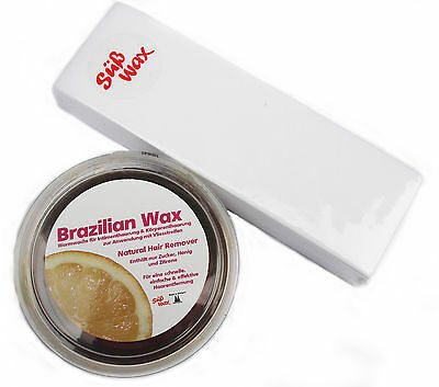 400g Süß Wax Brazilian Waxing Sugaring Zuckerpaste zur Enthaarung mt Vlies
