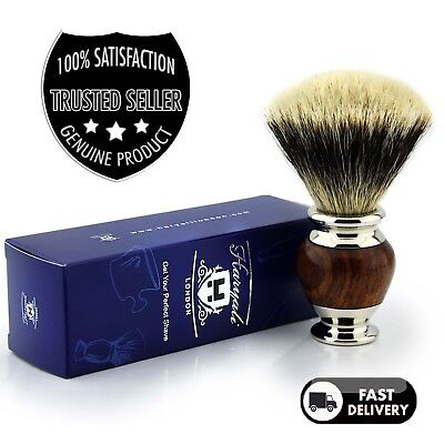 Best Shaving Brush For Men Badger Hair Silver Tip, Classic Vintage Style Barber