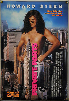 Private Parts Ds Rolled Adv Orig 1Sh Movie Poster Howard Stern (1997)
