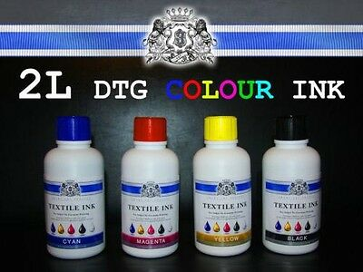 500ml and 1000ml COLOUR AND WHITE TEXTILE INK FOR ALL DTG PRINTERS