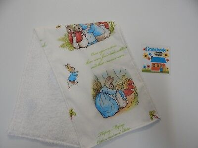 Beatrix Potter Peter Rabbit Burp Cloth - 1 Only Toweling Back - Handmade