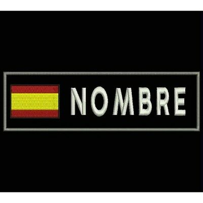Parche Bordado BANDERA ESPAÑA Y NOMBRE (Personalizable) / Embroidery patch