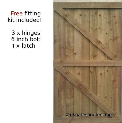 Wooden Garden Gate Wooden Gate  Featheredge Side Gate All sizes Heavy Duty !