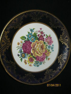 ROYAL FALCON IRONSTONE DECORATIVE PLATE - ROSES