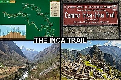 SOUVENIR FRIDGE MAGNET of THE INCA TRAIL TREK PERU ANDES