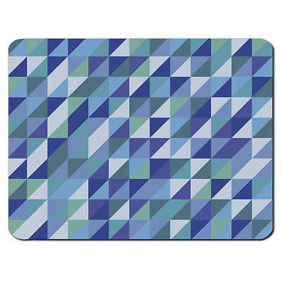BLUE TRIANGLES PC Computer Mousemat Mouse Mat Pad Gift Aztec Tribal Retro Cool