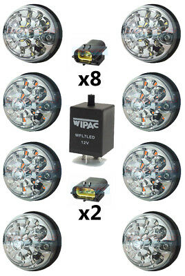 Land Rover Defender 73Mm Clear Led Lamp/light Upgrade Kit Rdx Wipac Da1191