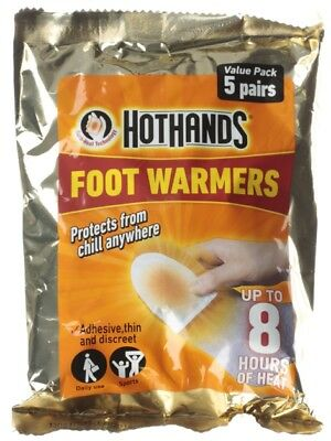Hot Hands Foot Warmer Value Pack 5 Pairs 8 Hours Heat Daily Use Sports Skiing