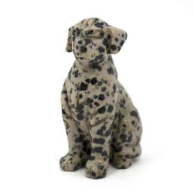 Hand Carved Natural Dalmatian Gemstone Dog - Very Collectible!!! MUST HAVE!!!