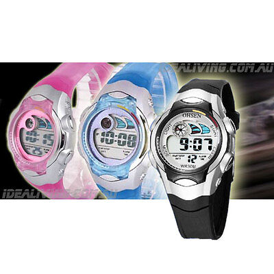 Buy 3 OHSEN kids digital watches for $48 - Alarm Boys or Girls