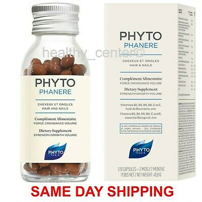 Phyto Phytophanere Hair & Nails Dietary Supplements 120 Caps (Two Month Supply)
