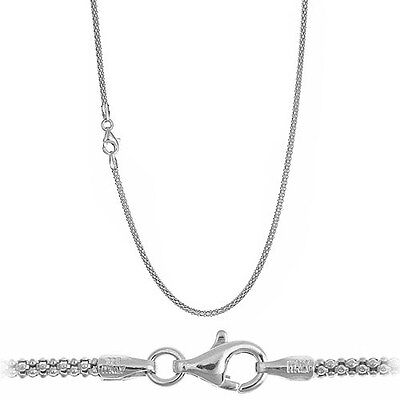 Solid .925 Sterling Silver 2.5mm Italian Popcorn Chain Necklace - All Sizes