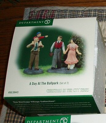 DEPT 56 CHRISTMAS IN THE CITY Accessory A DAY AT THE BALLPARK NIB