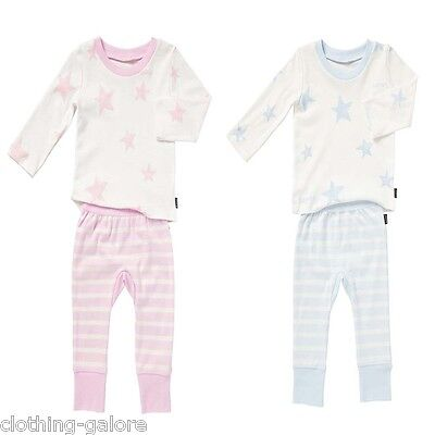 Bonds Baby Boys Girls Cotton Long Sleeve Top Pj Set Pyjama Pyjamas Pink Pjs Blue