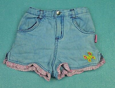 STRAWBERRY SHORTCAKE Blue Jean Little Girl Summer Shorts Sz 4