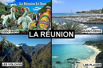 SOUVENIR FRIDGE MAGNET of LA RÉUNION REUNION ISLAND