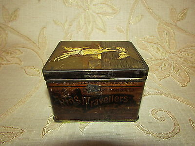 Antique Collectable Ring Travellers Tin Box - 1920's