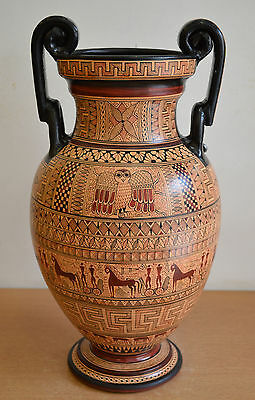 Geometric Period Amphora Vase-Ancient Greece - National Museum Of Greece Replica