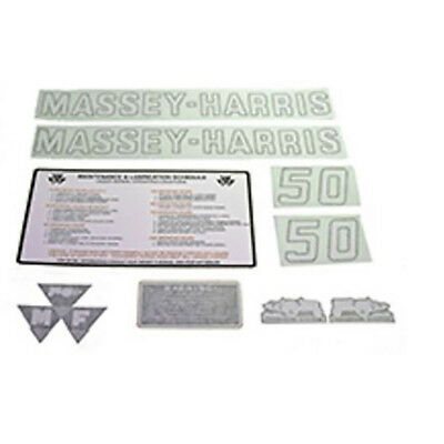R4309 New Massey Harris MH Tractor Complete Vinyl Decal Set 50