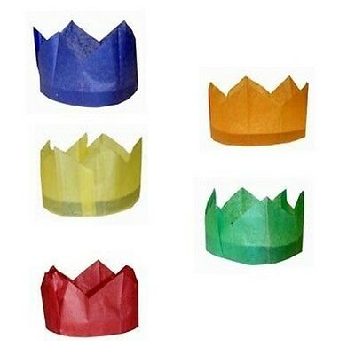 Cracker Hats for Christmas & Wedding Crackers - Pack of 10 - ASSORTED COLOURS