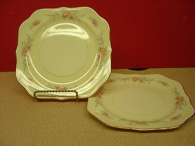 """Homer Laughlin China FERNDALE Two Square Salad Plates 8"""""""